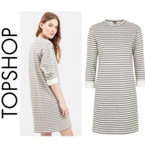 Topshop Stripe Sweater Dress